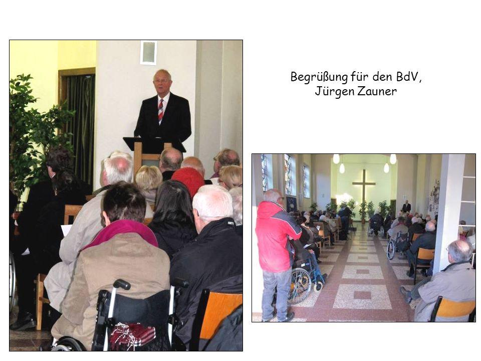 Begrüßung für den BdV, Jürgen Zauner
