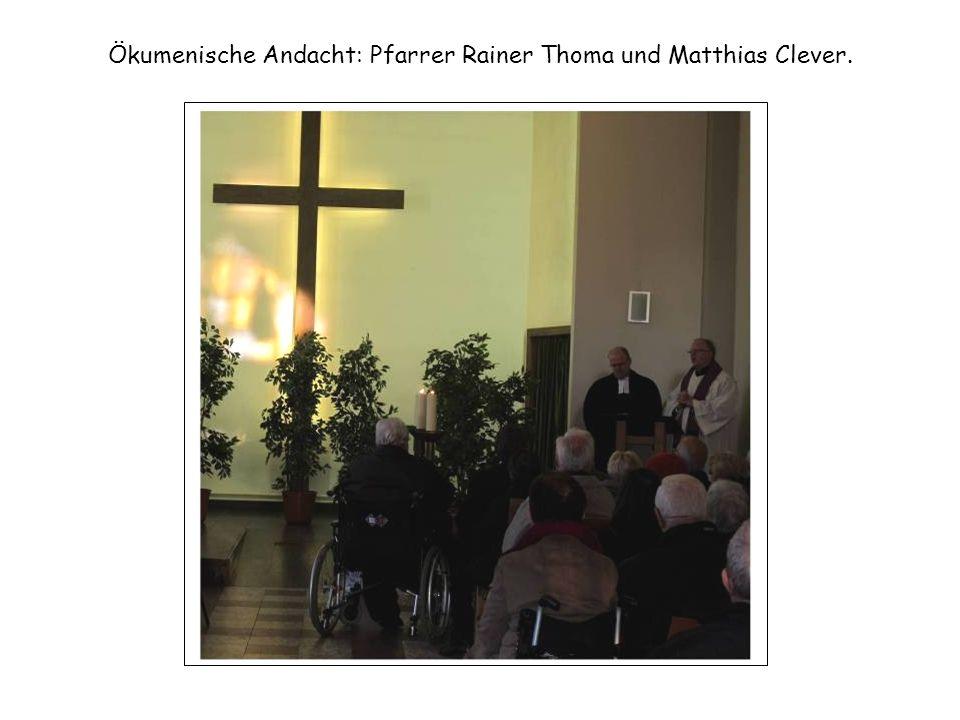 Ökumenische Andacht: Pfarrer Rainer Thoma und Matthias Clever.