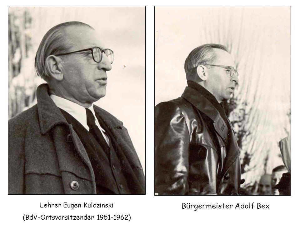 Bürgermeister Adolf Bex