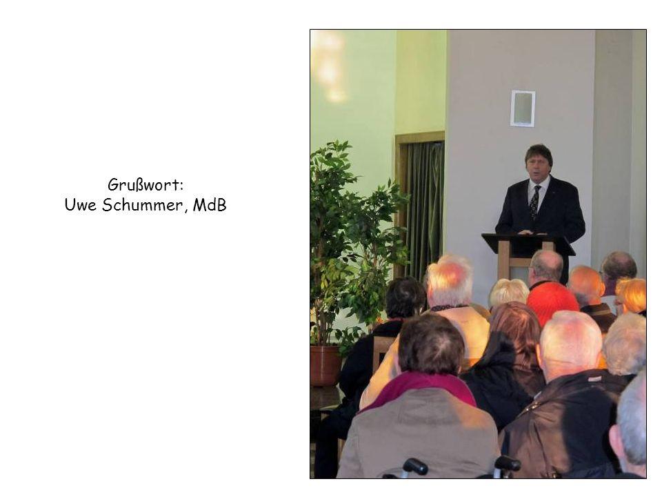Grußwort: Uwe Schummer, MdB