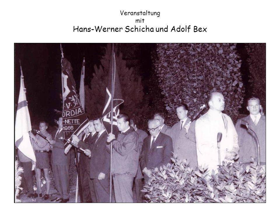Veranstaltung mit Hans-Werner Schicha und Adolf Bex