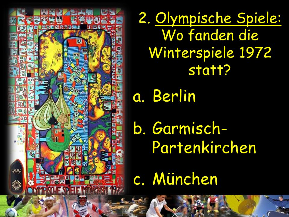 2. Olympische Spiele: Wo fanden die Winterspiele 1972 statt