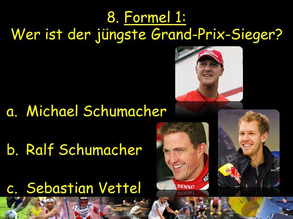 8. Formel 1: Wer ist der jüngste Grand-Prix-Sieger