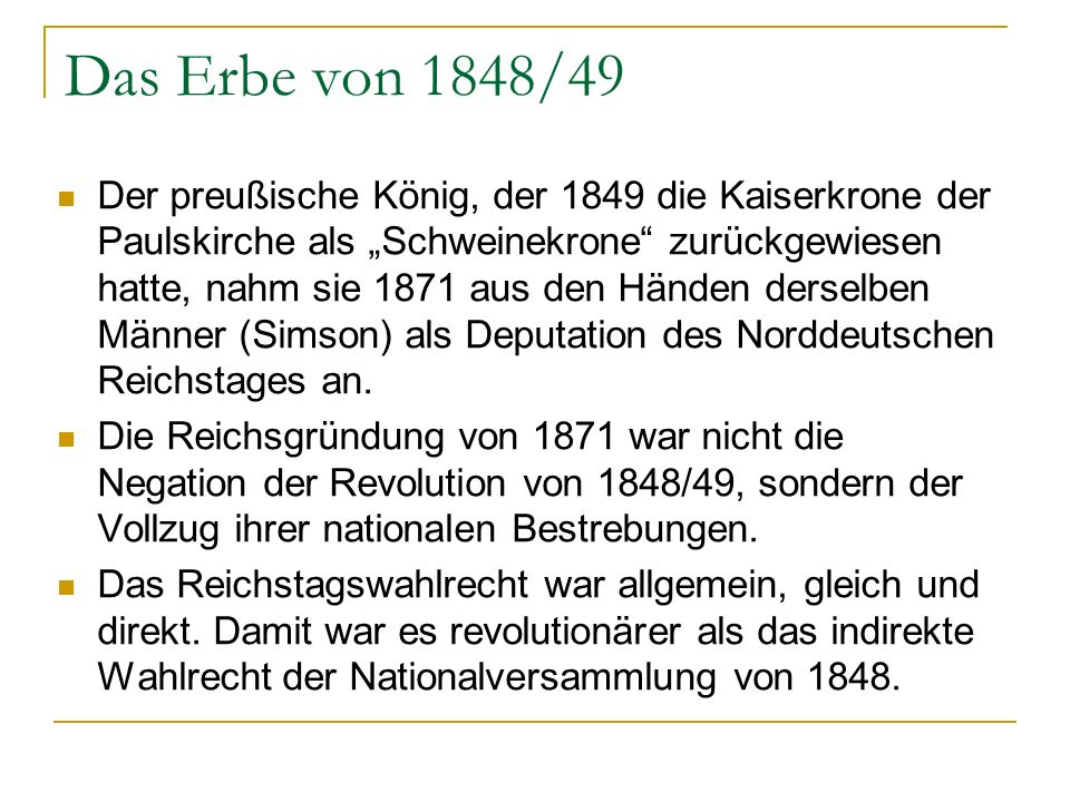 Das Erbe von 1848/49