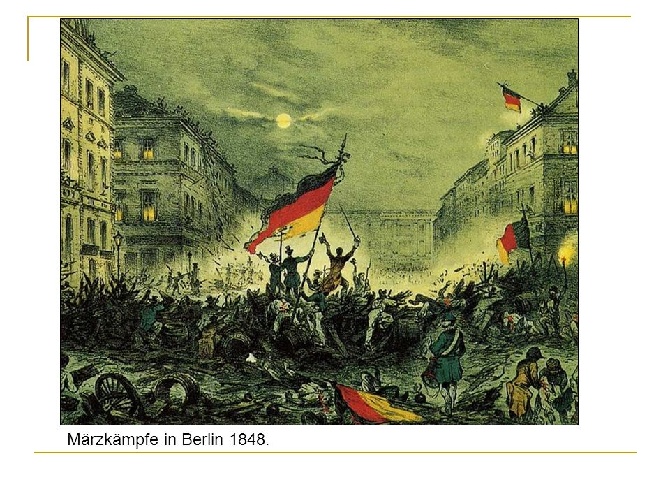 Märzkämpfe in Berlin 1848.
