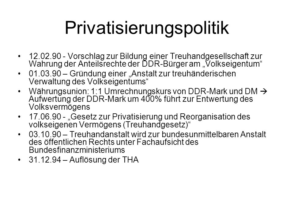 Privatisierungspolitik