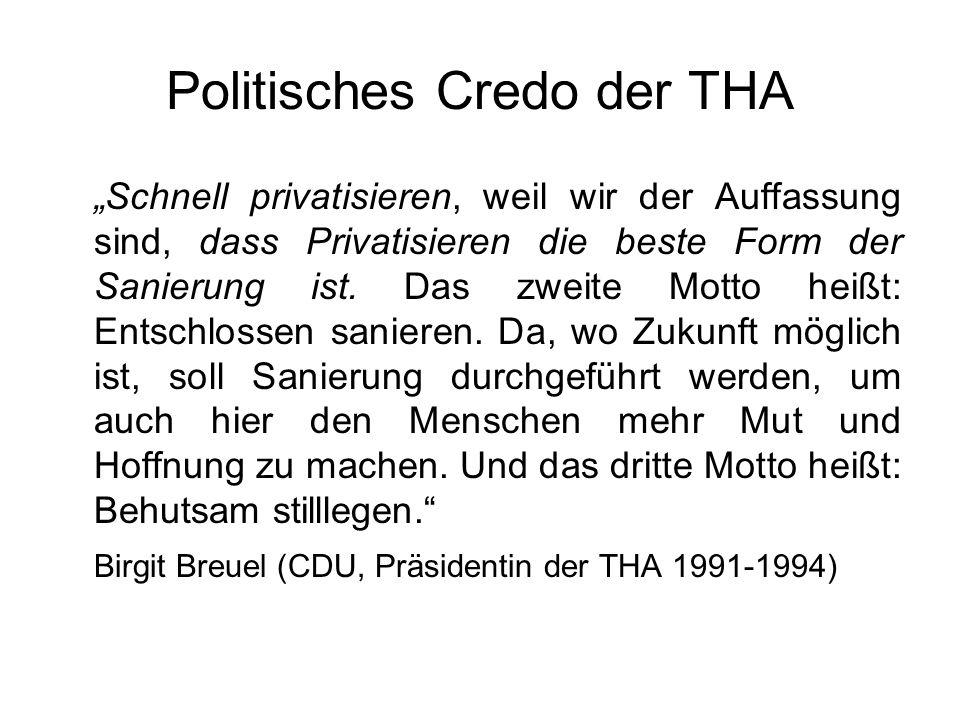 Politisches Credo der THA