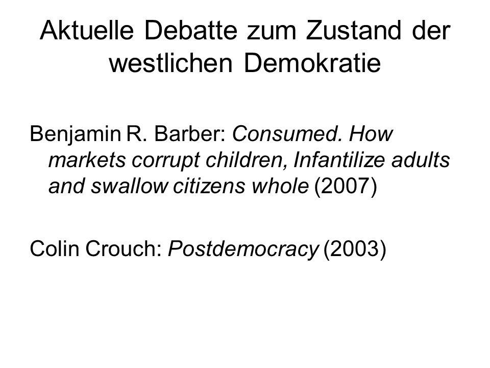 Aktuelle Debatte zum Zustand der westlichen Demokratie