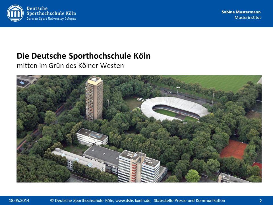 Die Deutsche Sporthochschule Köln mitten im Grün des Kölner Westen