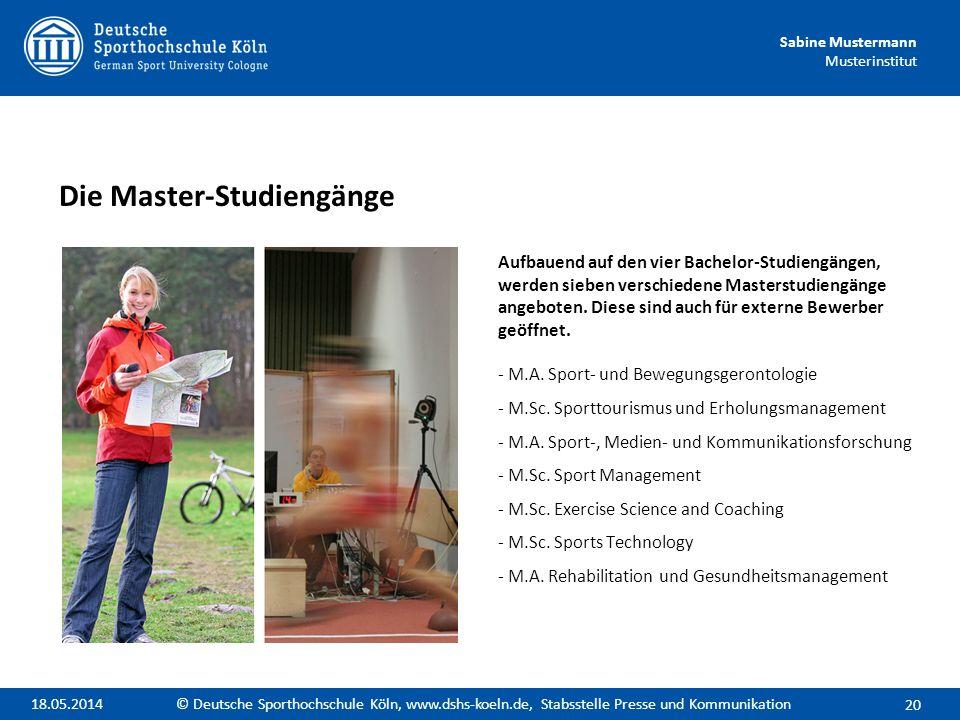 Die Master-Studiengänge