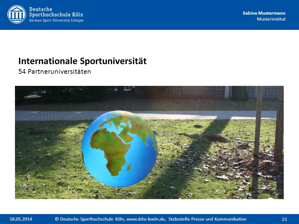 Internationale Sportuniversität 54 Partneruniversitäten