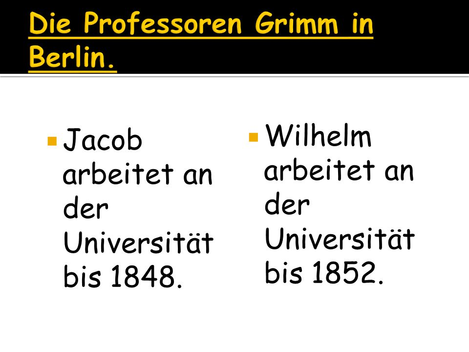 Die Professoren Grimm in Berlin.