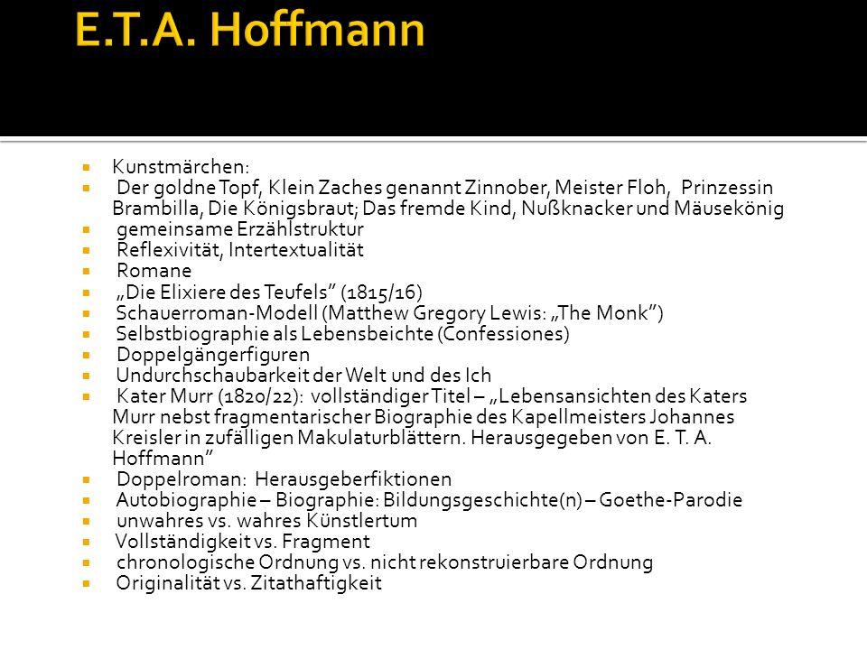E.T.A. Hoffmann Kunstmärchen: