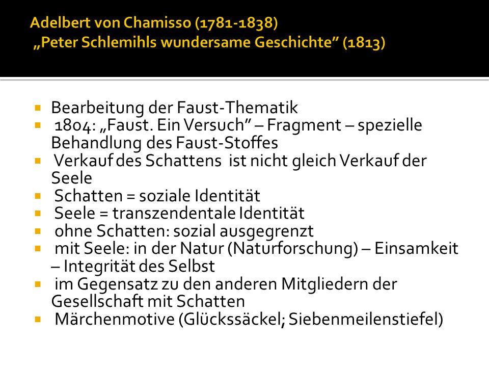 Bearbeitung der Faust-Thematik