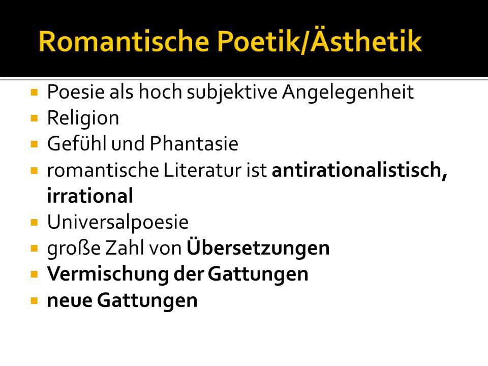 Romantische Poetik/Ästhetik