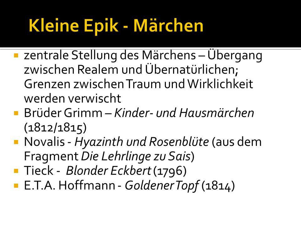 Kleine Epik - Märchen