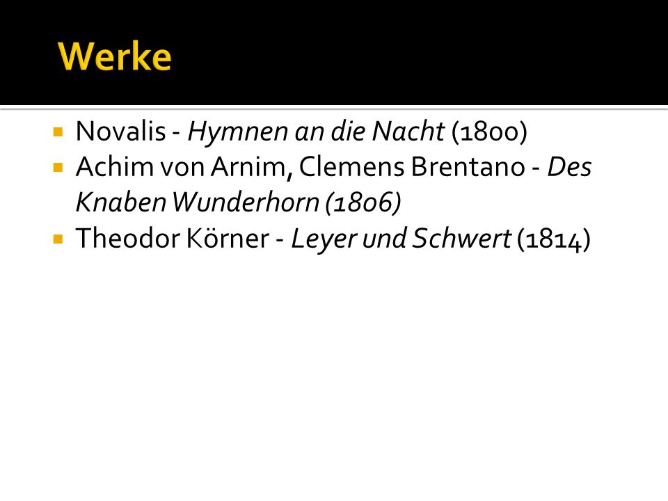 Werke Novalis - Hymnen an die Nacht (1800)
