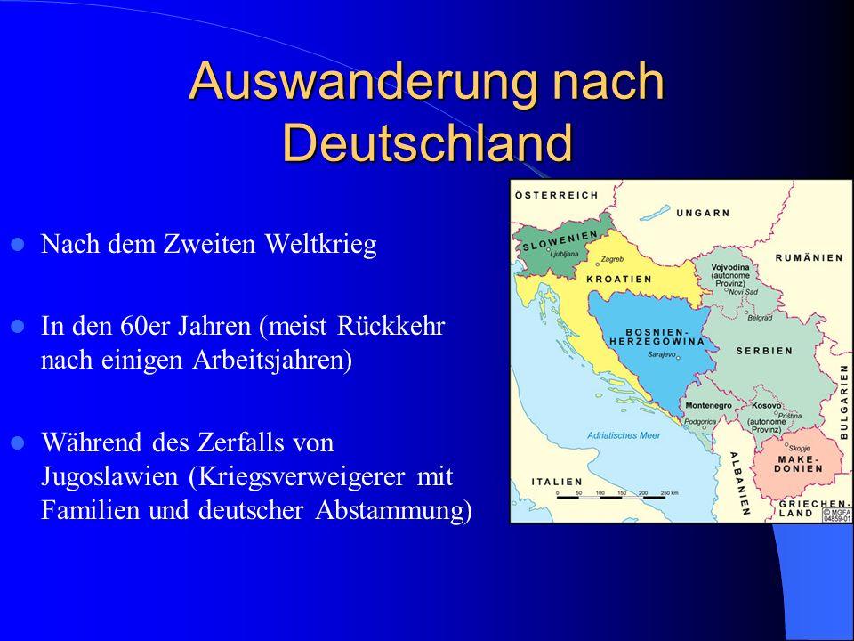 Auswanderung nach Deutschland