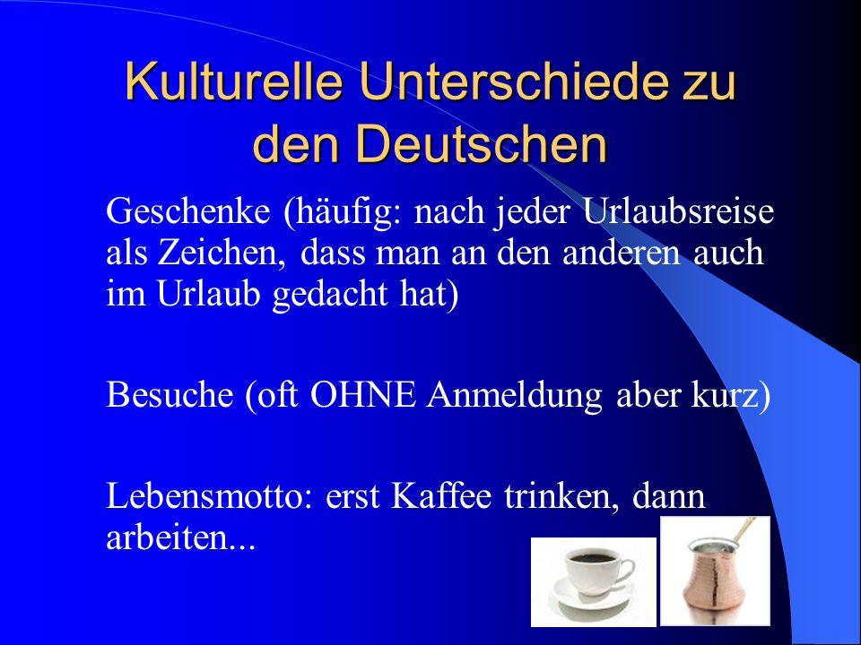 Kulturelle Unterschiede zu den Deutschen