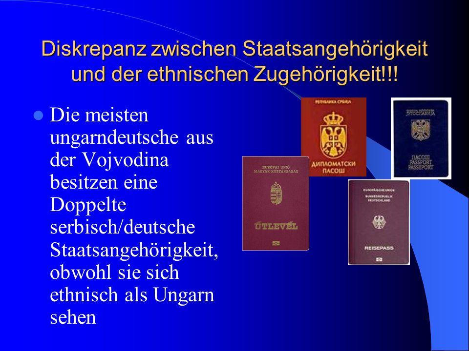 Diskrepanz zwischen Staatsangehörigkeit und der ethnischen Zugehörigkeit!!!