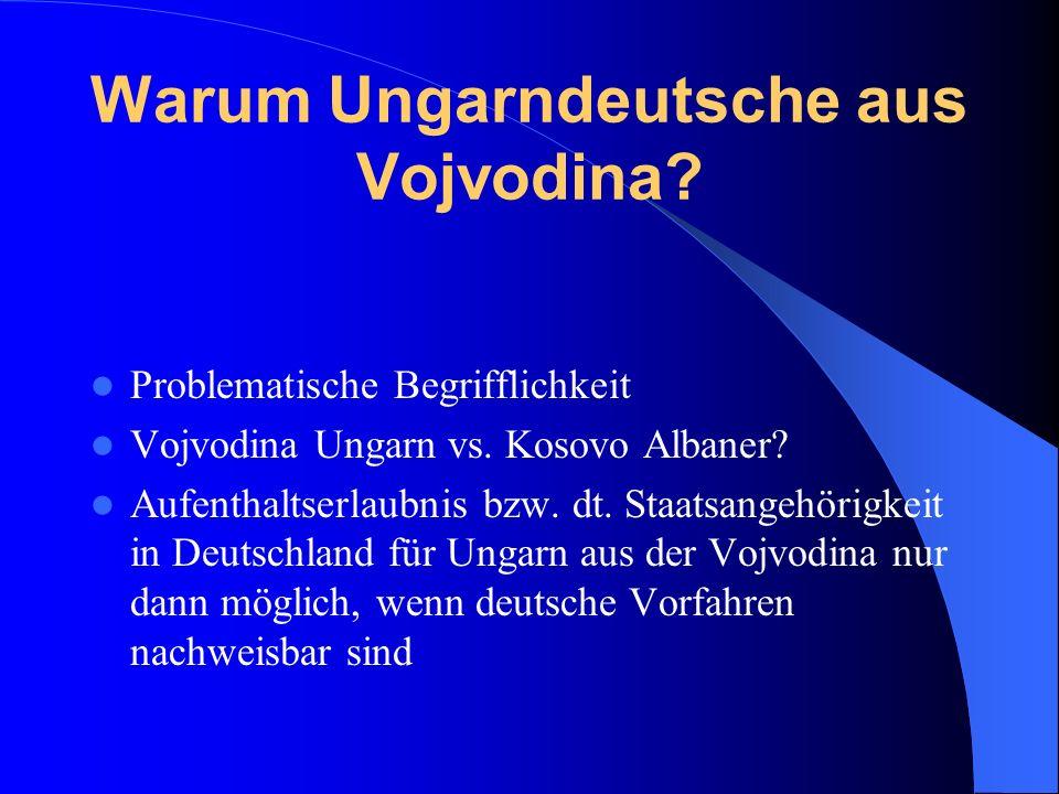 Warum Ungarndeutsche aus Vojvodina