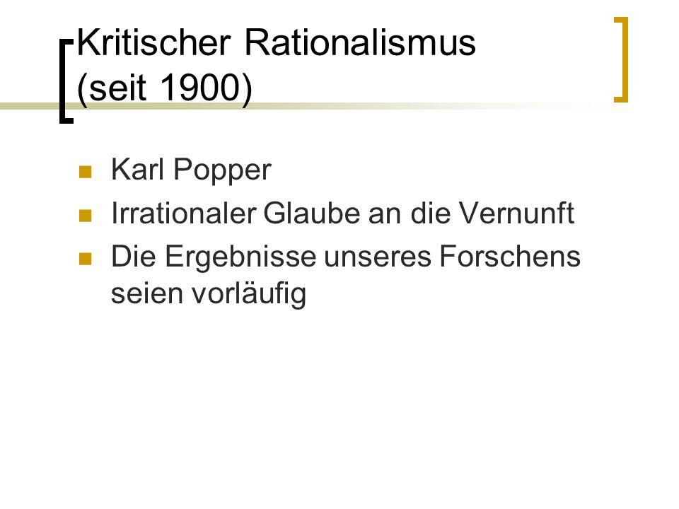 Kritischer Rationalismus (seit 1900)