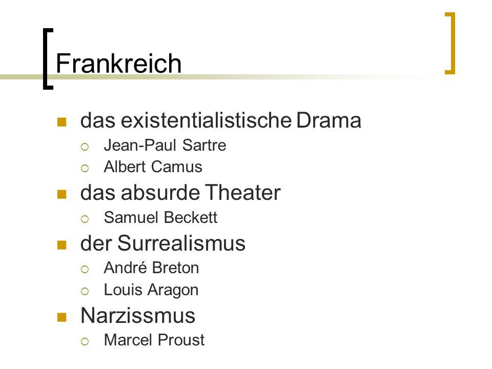 Frankreich das existentialistische Drama das absurde Theater