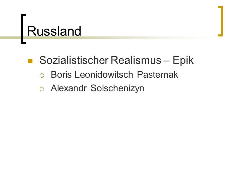Russland Sozialistischer Realismus – Epik