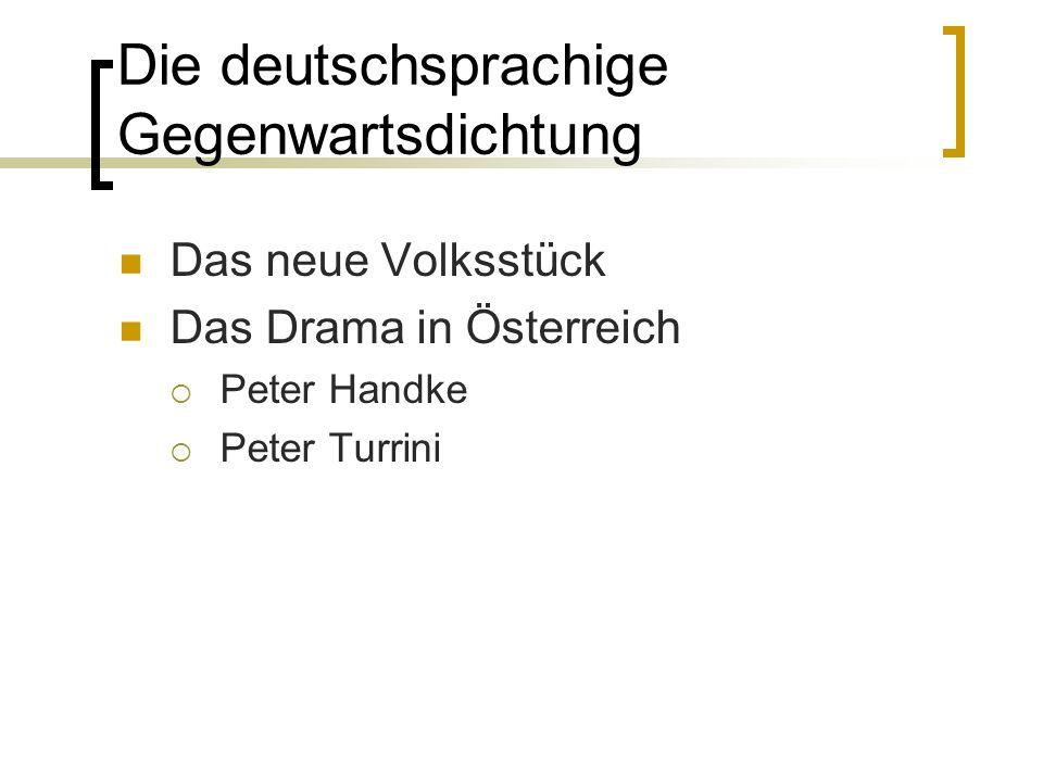 Die deutschsprachige Gegenwartsdichtung