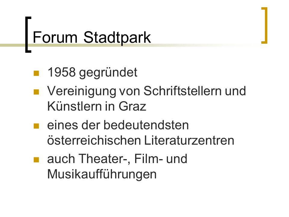 Forum Stadtpark 1958 gegründet