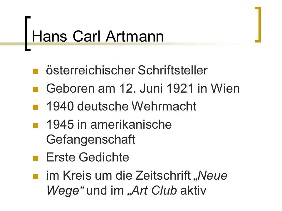 Hans Carl Artmann österreichischer Schriftsteller