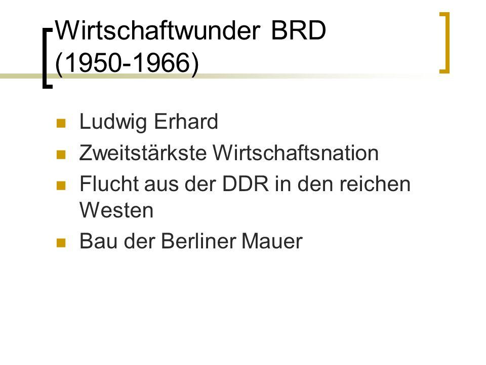 Wirtschaftwunder BRD (1950-1966)
