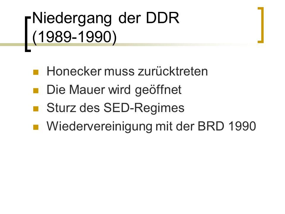 Niedergang der DDR (1989-1990) Honecker muss zurücktreten