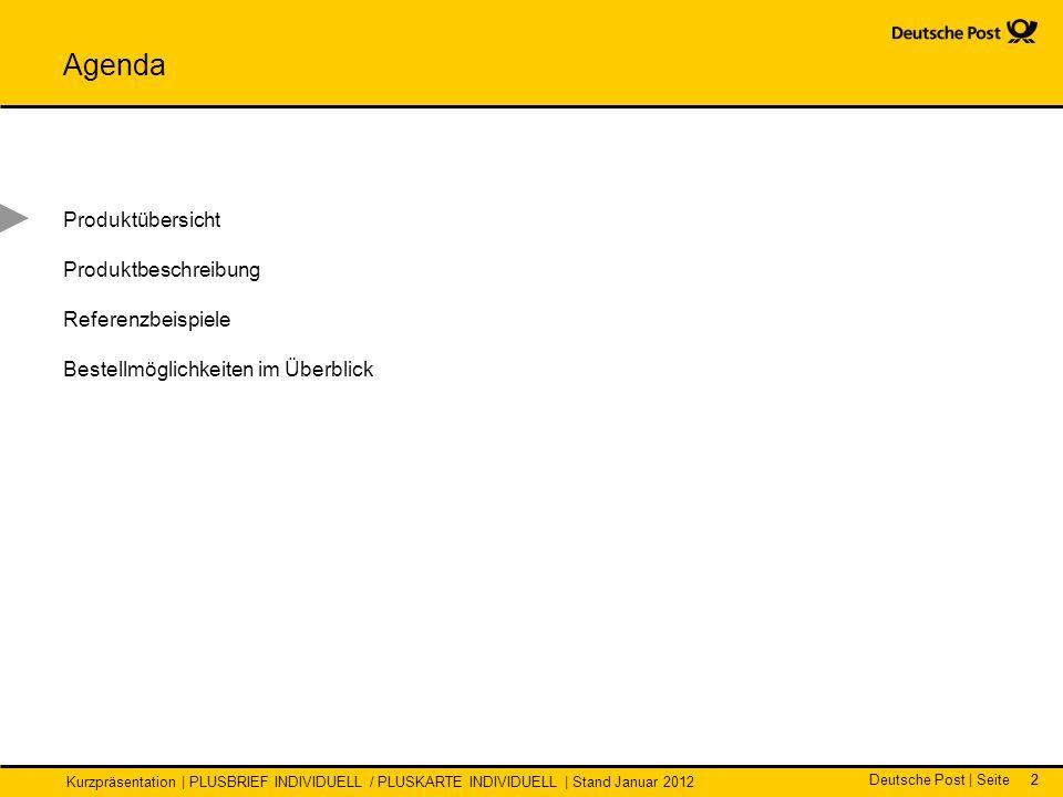 Agenda Produktübersicht Produktbeschreibung Referenzbeispiele