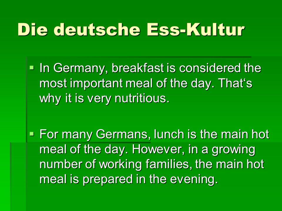 Die deutsche Ess-Kultur