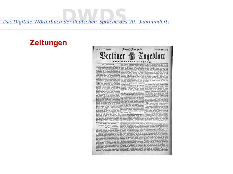 Zeitungen Stichproben aus 150 Zeitungen