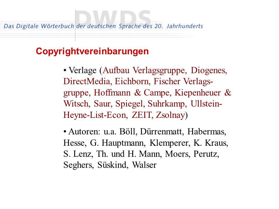 Copyrightvereinbarungen