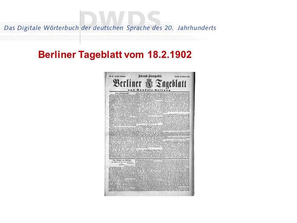 Berliner Tageblatt vom 18.2.1902