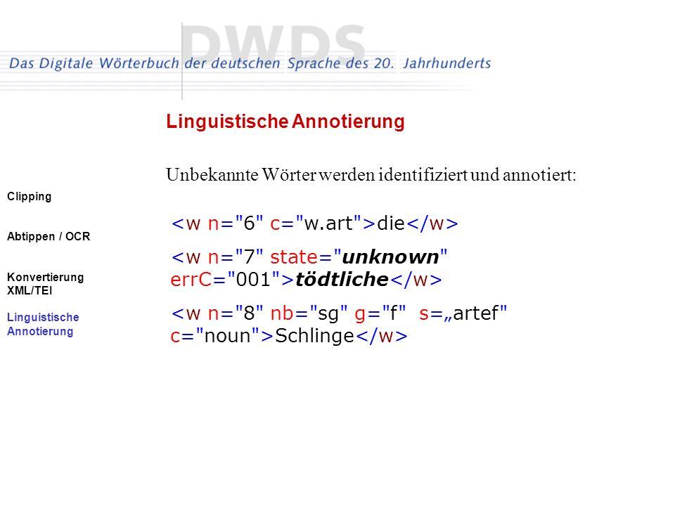 Linguistische Annotierung