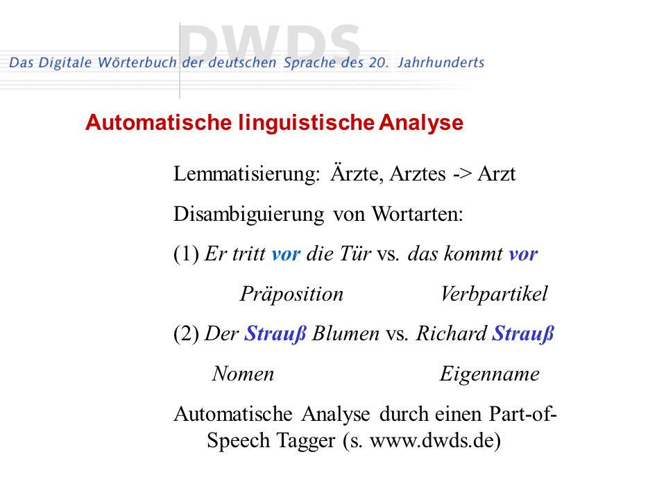 Automatische linguistische Analyse