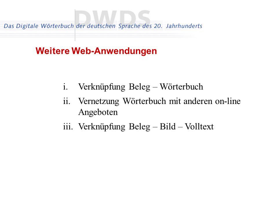 Weitere Web-Anwendungen