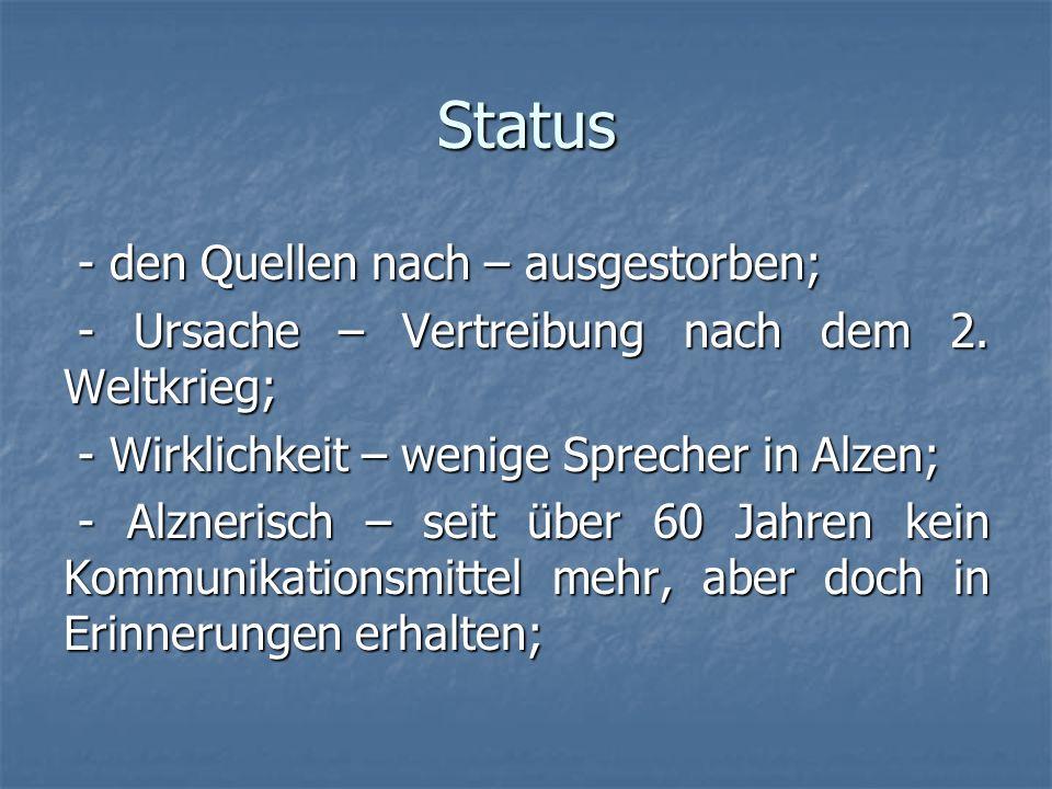 Status - den Quellen nach – ausgestorben;