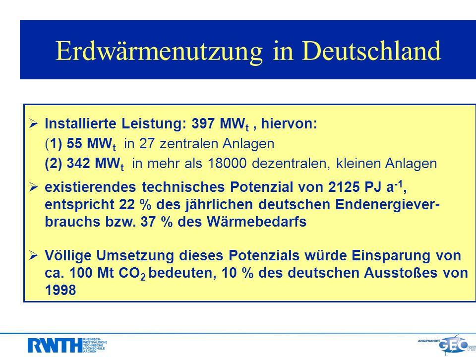 Erdwärmenutzung in Deutschland