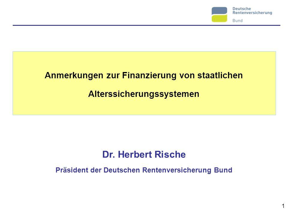 Anmerkungen zur Finanzierung von staatlichen Alterssicherungssystemen