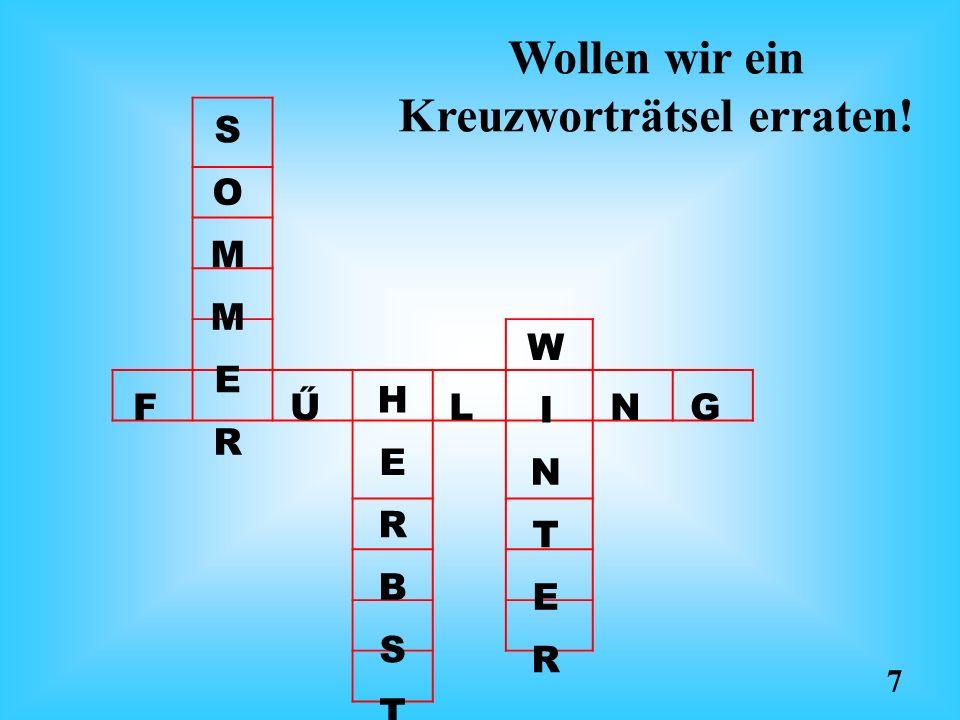 Wollen wir ein Kreuzworträtsel erraten!