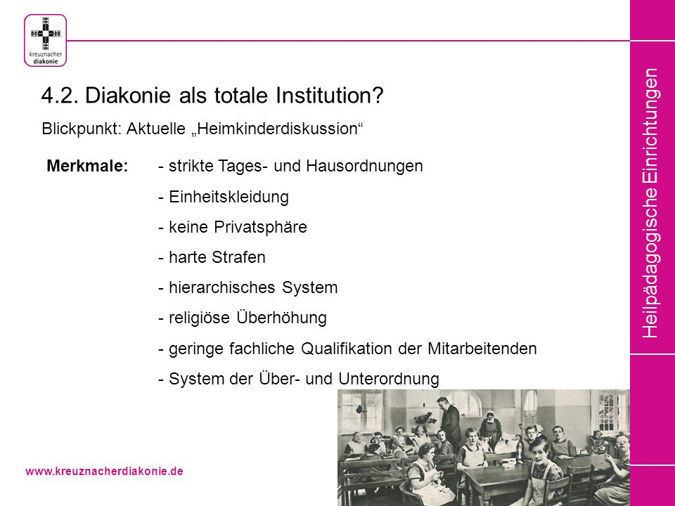 4.2. Diakonie als totale Institution