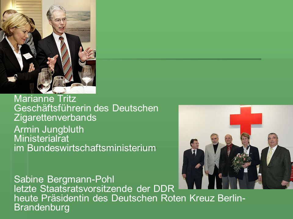 Marianne Tritz Geschäftsführerin des Deutschen Zigarettenverbands