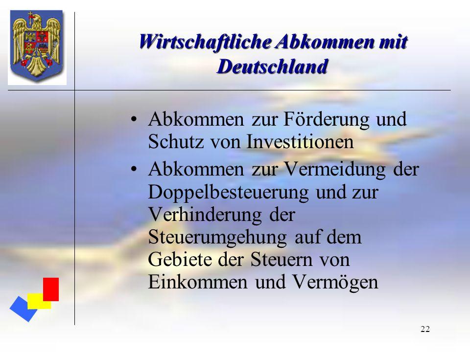 Wirtschaftliche Abkommen mit Deutschland