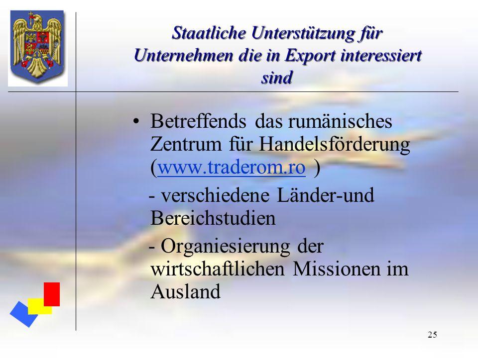 - verschiedene Länder-und Bereichstudien