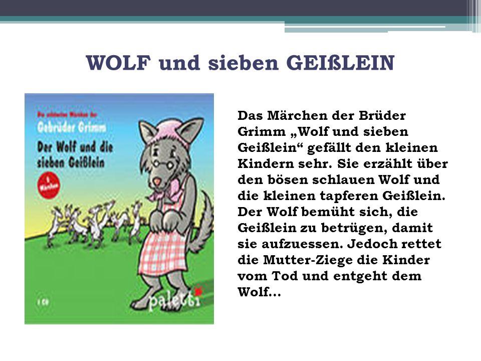 WOLF und sieben GEIßLEIN